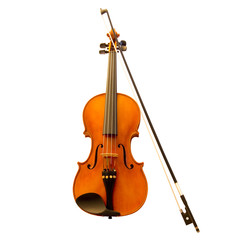 Violin with fiddlestick