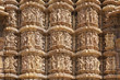 Khajuraho Temple carvings.