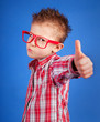 Cool five years old boy showing ok sign