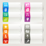 Fototapety Rainbow - Office and Business icons / Navigation template