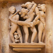 Khajuraho erotic carvings.