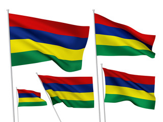Mauritius vector flags