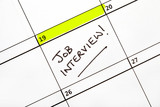 Job Interview Date on a Calendar