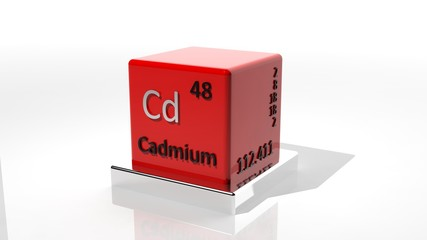 Cadmium, 3d chemical element of the periodic table