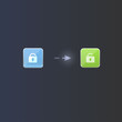 User interface unlock icon