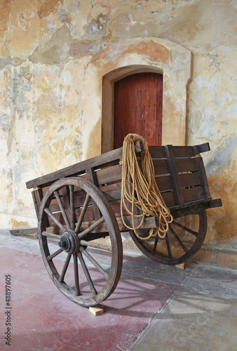 beautiful wooden cart