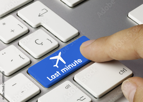 Last minute keyboard key. Finger