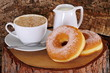 Ciambelle con cappuccino