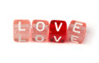Word love on multicolored cubes