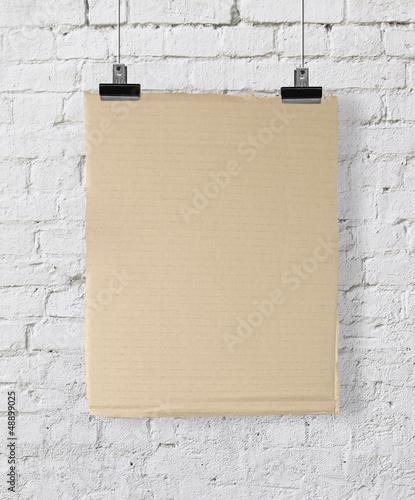 yellow cardboard poster