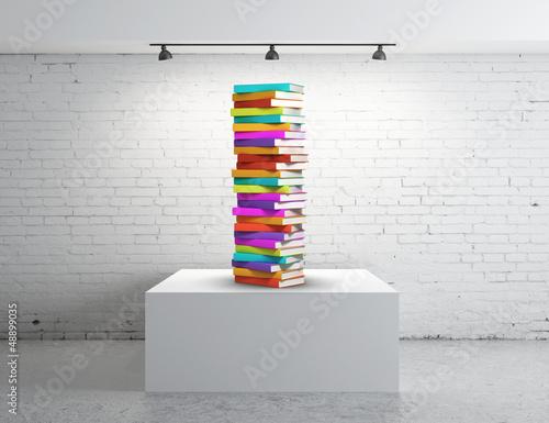 box presentation with books