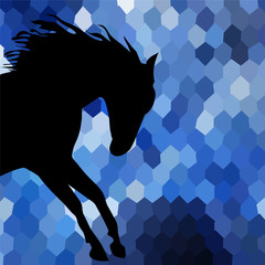 horse fine vector silhouette color