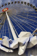 Detail of a wheel in the Prater funfair