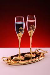 Golden glasses for love - Golden valentine's day - special drink