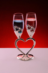 Private glasses for love - romantic and special glasses