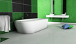 Green Bathroom Contemporary Design