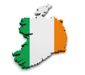 Ireland Flag Map Shape
