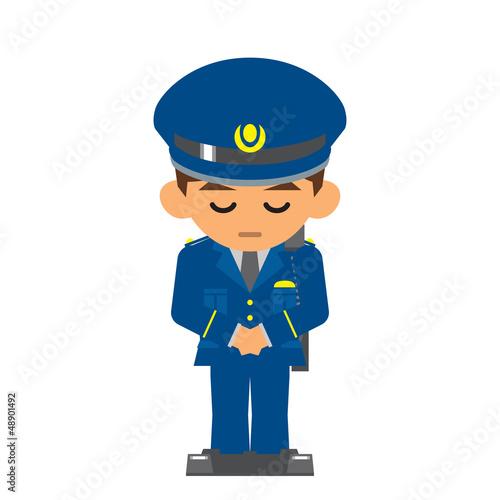 警察官 お辞儀