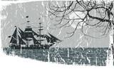 pirate ship in sea