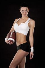 american football girl