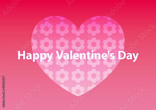 message card happy valentine's day heart 001