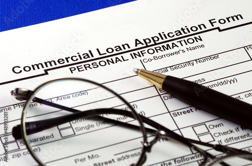 File the commercial loan application