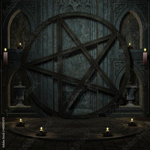 Ritualplatz mit Pentagramm