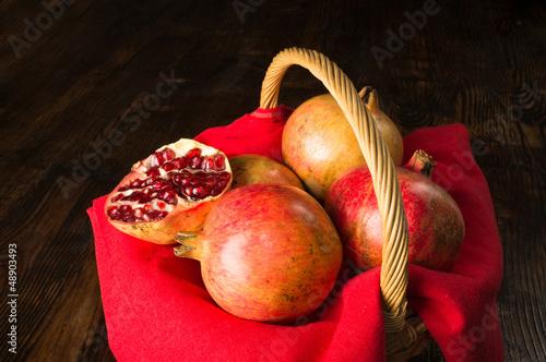 Pommegranates still life