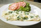 Florentine spinach egg white omelet poster