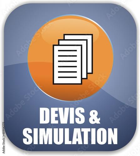 bouton devis & simulation