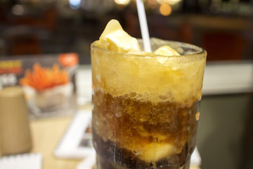 root beer float by night