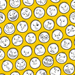 Funny characters. Seamless pattern.