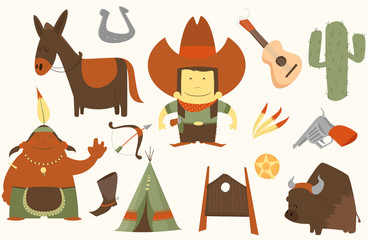cowboy clip art pack