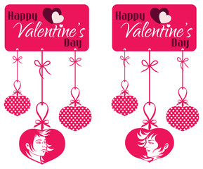 Valentine Couple Hanging Tag