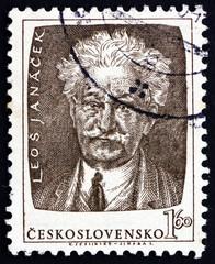 Postage stamp Czechoslovakia 1953 Leos Janacek, Czech Composer