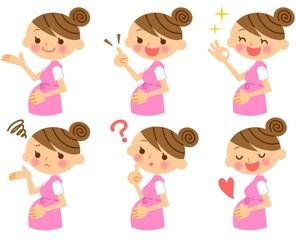 妊婦 表情