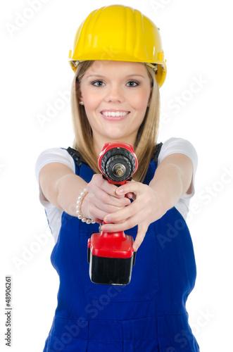 junge motivierte handwerkerin