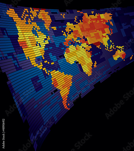 Luminous world map
