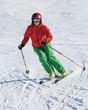 elegante Skifahrerin