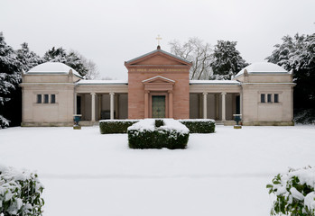 Altes Mausoleum Rosenhöhe - Winter