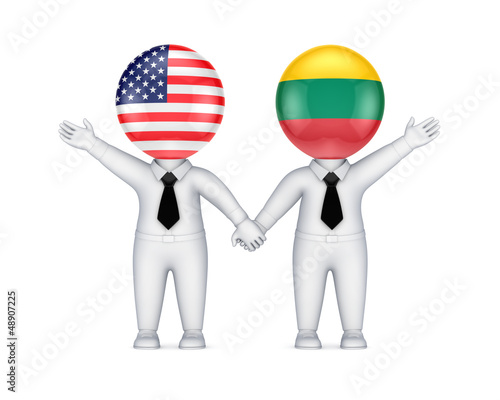 US-Lithuanian cooperation concept.