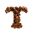 Coffee alphabet letter