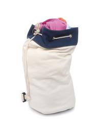 White laundry bag
