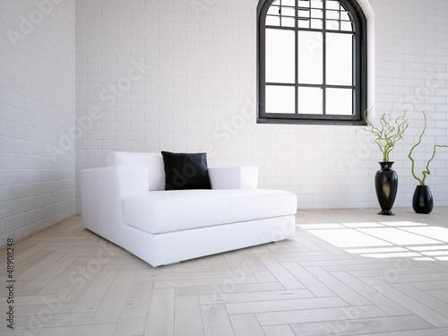 White Easy Chair