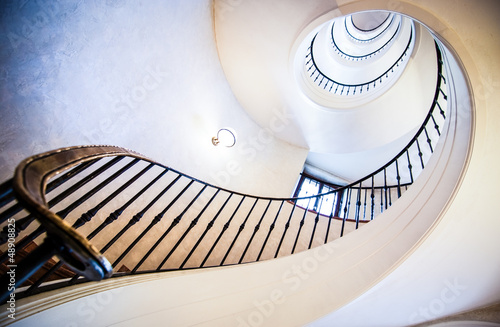 Foto op Canvas Trappen spiral staircase