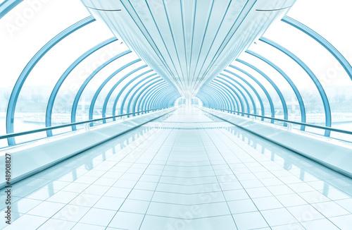 spacious diminishing transparent hallway
