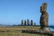 Several moai at Tahai on Easter Island