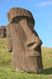 Moai at Rano Raraku quarry on Easter Island