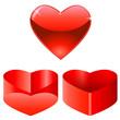 Herz und Geschenkbox