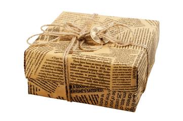 "Gift box ""Old Newspaper"""